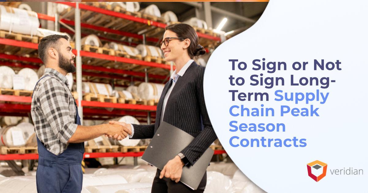 Supply Chain Peak Season Contracts