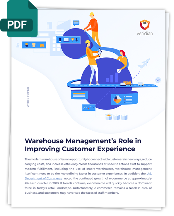 Warehouse Management's Role in Improving Customer Experience veridian-whitepaper-pdf-cover