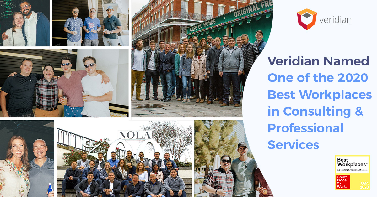 Veridian Named One of the Best Workplaces in Consulting & Professional Services
